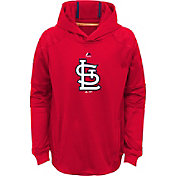 Majestic Youth St. Louis Cardinals Performance Red Pullover Hoodie
