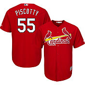 Majestic Youth Replica St. Louis Cardinals Stephen Piscotty #55 Cool Base Alternate Red Jersey