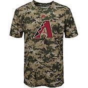 Majestic Youth Arizona Diamondbacks Cool Base Digi Camo Performance T-Shirt