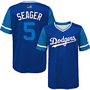 "Majestic Youth Los Angeles Dodgers Corey Seager ""Seager"" MLB Players Weekend Jersey Top"