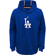 Majestic Youth Los Angeles Dodgers Performance Royal Pullover Hoodie