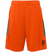 Majestic Youth San Francisco Giants Cool Base Rally Orange Performance Shorts