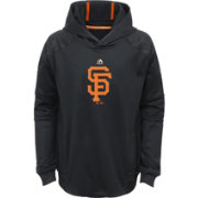 Majestic Youth San Francisco Giants Performance Black Pullover Hoodie