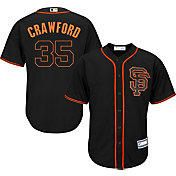 Majestic Youth Replica San Francisco Giants Brandon Crawford #35 Cool Base Alternate Black Jersey