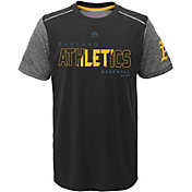 Majestic Youth Oakland Athletics Cool Base Club Series Black Performance T-Shirt