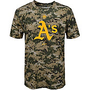 Majestic Youth Oakland Athletics Cool Base Digi Camo Performance T-Shirt