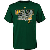 Majestic Youth Oakland Athletics Spark Green T-Shirt