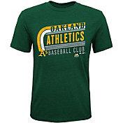Majestic Youth Oakland Athletics Tri-Blend Curveball Green T-Shirt