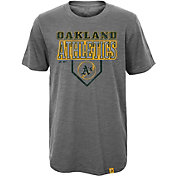 Majestic Youth Oakland Athletics Heirloom Grey T-Shirt