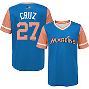 "Majestic Youth Miami Marlins Giancarlo Stanton ""Cruz"" MLB Players Weekend Jersey Top"