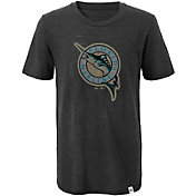 Majestic Youth Miami Marlins Cooperstown Black T-Shirt