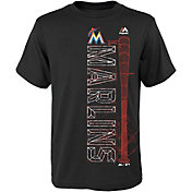 Majestic Youth Miami Marlins Black T-Shirt