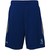 Majestic Youth Seattle Mariners Cool Base Rally Navy Performance Shorts