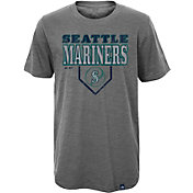 Majestic Youth Seattle Mariners Heirloom Grey T-Shirt