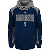 Majestic Youth Seattle Mariners Therma Base Geo Fuse Navy Hooded Fleece