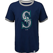 Majestic Youth Seattle Mariners Ringer Navy T-Shirt