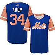 "Majestic Youth New York Mets Noah Syndergaard ""Thor"" MLB Players Weekend Jersey Top"