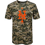 Majestic Youth New York Mets Cool Base Digi Camo Performance T-Shirt