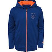Majestic Youth New York Mets Club Series Royal Full-Zip Hooded Fleece