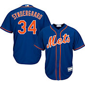 Majestic Youth Replica New York Mets Noah Syndergaard #34 Cool Base Alternate Royal Jersey