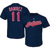 Majestic Men's Cleveland Indians Jose Ramirez #11 Navy T-Shirt