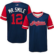 "Majestic Youth Cleveland Indians Francisco Lindor ""Mr. Smile"" MLB Players Weekend Jersey Top"