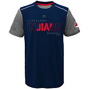 Majestic Youth Cleveland Indians Cool Base Club Series Navy Performance T-Shirt
