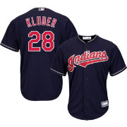 Youth Replica Cleveland Indians Corey Kluber #28 Alternate Navy Jersey
