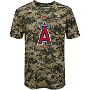 Majestic Youth Los Angeles Angels Cool Base Digi Camo Performance T-Shirt