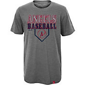 Majestic Youth Los Angeles Angels Heirloom Grey T-Shirt