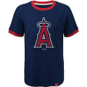 Majestic Youth Los Angeles Angels Ringer Navy T-Shirt