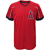 Majestic Youth Los Angeles Angels Cool Base Emergence Red Performance T-Shirt