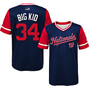 """Majestic Youth Washington Nationals Bryce Harper """"Big Kid"""" MLB Players Weekend Jersey Top"""