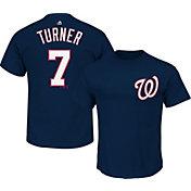 Majestic Youth Washington Nationals Trea Turner #7 Navy T-Shirt