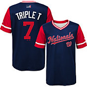 "Majestic Youth Washington Nationals Trea Turner ""Triple T"" MLB Players Weekend Jersey Top"