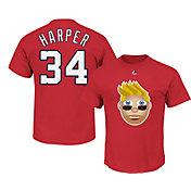Majestic Youth Washington Nationals Bryce Harper Emoji Red T-Shirt