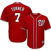 Majestic Youth Replica Washington Nationals Trea Turner #7 Cool Base Alternate Red Jersey