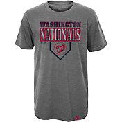 Majestic Youth Washington Nationals Heirloom Grey T-Shirt