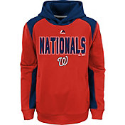 Majestic Youth Washington Nationals Therma Base Geo Fuse Red Hooded Fleece