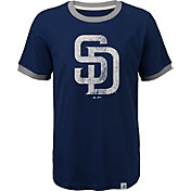Majestic Youth San Diego Padres Ringer Navy T-Shirt