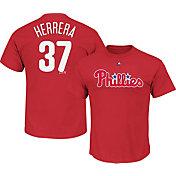 Majestic Youth Philadelphia Phillies Odubel Herrera #37 Red T-Shirt