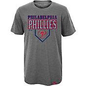 Majestic Youth Philadelphia Phillies Heirloom Grey T-Shirt
