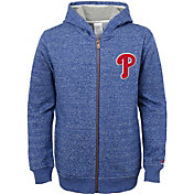 Majestic Youth Philadelphia Phillies Winning Streak Royal Full-Zip Hooded Fleece
