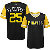 "Majestic Youth Pittsburgh Pirates Gregory Polanco ""El Coffee"" MLB Players Weekend Jersey Top"