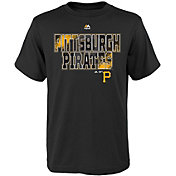 Majestic Youth Pittsburgh Pirates Spark Black T-Shirt