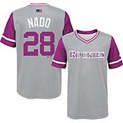 """Majestic Youth Colorado Rockies Nolan Arenado """"Nado"""" MLB Players Weekend Jersey Top"""