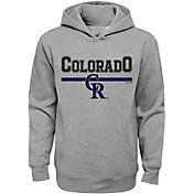 Majestic Youth Colorado Rockies Grey MVP Hoodie
