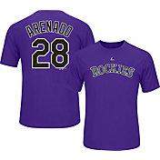 Majestic Youth Colorado Rockies Nolan Arenado #28 Purple Performance T-Shirt