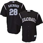 Youth Replica Colorado Rockies Nolan Arenado #28 Alternate Black Jersey