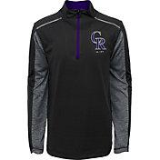 Majestic Youth Colorado Rockies Club Series Black Quarter-Zip Fleece